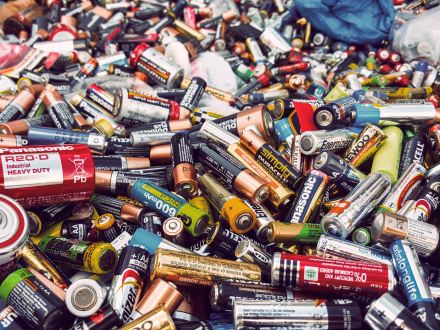 residuos de pilas baterias