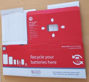photo ERP UK battery collection box